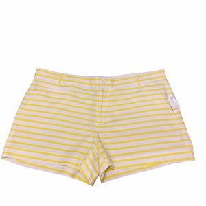 """GAP Yellow and White Striped 3"""" Inseam Shorts"""